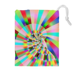 Irritation Funny Crazy Stripes Spiral Drawstring Pouches (extra Large) by designworld65