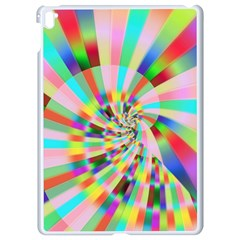 Irritation Funny Crazy Stripes Spiral Apple Ipad Pro 9 7   White Seamless Case by designworld65