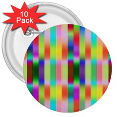 Multicolored Irritation Stripes 3  Buttons (10 Pack)  by designworld65