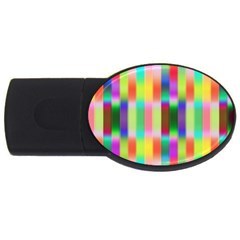 Multicolored Irritation Stripes Usb Flash Drive Oval (2 Gb) by designworld65