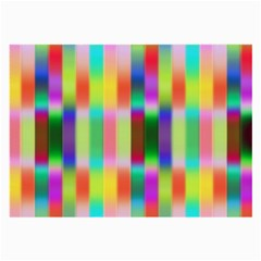 Multicolored Irritation Stripes Large Glasses Cloth by designworld65