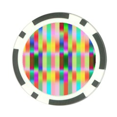 Multicolored Irritation Stripes Poker Chip Card Guard by designworld65