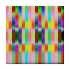 Multicolored Irritation Stripes Face Towel by designworld65