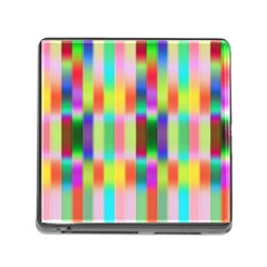 Multicolored Irritation Stripes Memory Card Reader (square) by designworld65