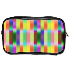 Multicolored Irritation Stripes Toiletries Bags by designworld65
