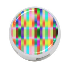 Multicolored Irritation Stripes 4 Port Usb Hub (two Sides)  by designworld65