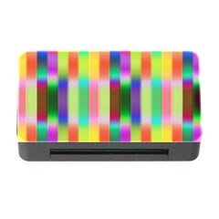 Multicolored Irritation Stripes Memory Card Reader With Cf by designworld65