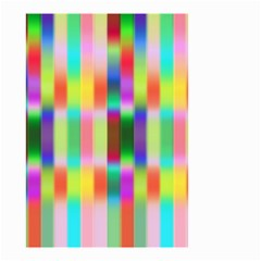 Multicolored Irritation Stripes Small Garden Flag (two Sides) by designworld65