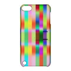 Multicolored Irritation Stripes Apple Ipod Touch 5 Hardshell Case With Stand by designworld65