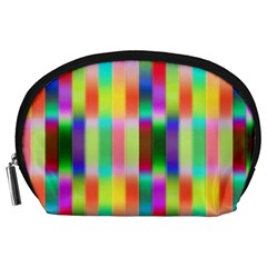 Multicolored Irritation Stripes Accessory Pouches (large)  by designworld65