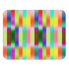 Multicolored Irritation Stripes Double Sided Flano Blanket (large)  by designworld65