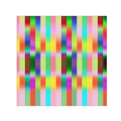 Multicolored Irritation Stripes Small Satin Scarf (square) by designworld65