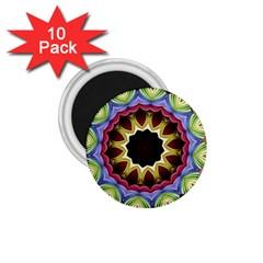 Love Energy Mandala 1 75  Magnets (10 Pack)  by designworld65