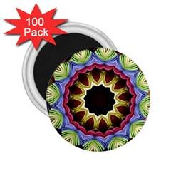 Love Energy Mandala 2 25  Magnets (100 Pack)  by designworld65