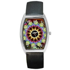 Love Energy Mandala Barrel Style Metal Watch by designworld65