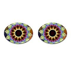 Love Energy Mandala Cufflinks (oval) by designworld65
