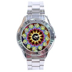 Love Energy Mandala Stainless Steel Analogue Watch by designworld65
