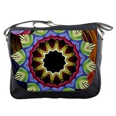 Love Energy Mandala Messenger Bags by designworld65