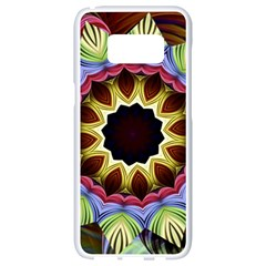 Love Energy Mandala Samsung Galaxy S8 White Seamless Case by designworld65