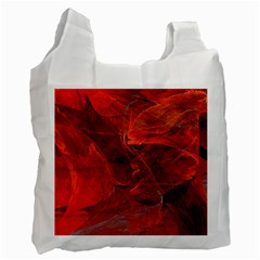 Swirly Love In Deep Red Recycle Bag (one Side) by designworld65