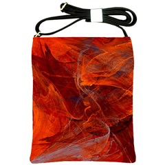 Swirly Love In Deep Red Shoulder Sling Bags by designworld65