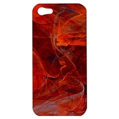 Swirly Love In Deep Red Apple Iphone 5 Hardshell Case by designworld65