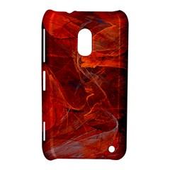 Swirly Love In Deep Red Nokia Lumia 620 by designworld65