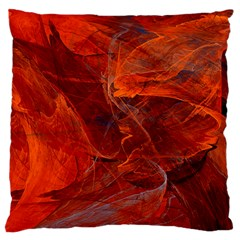 Swirly Love In Deep Red Large Flano Cushion Case (two Sides) by designworld65