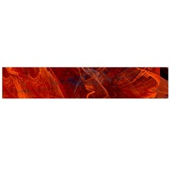 Swirly Love In Deep Red Flano Scarf (large) by designworld65