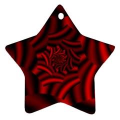Metallic Red Rose Ornament (star) by designworld65