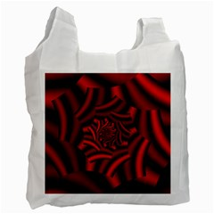 Metallic Red Rose Recycle Bag (one Side) by designworld65