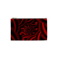 Metallic Red Rose Cosmetic Bag (small)  by designworld65