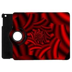 Metallic Red Rose Apple Ipad Mini Flip 360 Case by designworld65