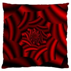 Metallic Red Rose Standard Flano Cushion Case (one Side) by designworld65