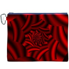 Metallic Red Rose Canvas Cosmetic Bag (xxxl) by designworld65