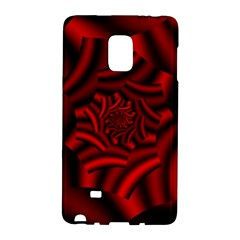 Metallic Red Rose Galaxy Note Edge by designworld65