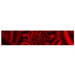 Metallic Red Rose Flano Scarf (small) by designworld65