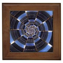 Midnight Crazy Dart Framed Tiles by designworld65