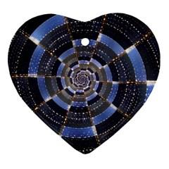 Midnight Crazy Dart Heart Ornament (two Sides) by designworld65