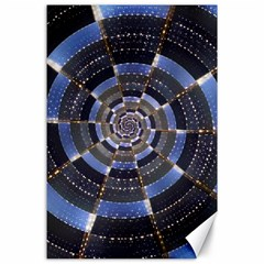 Midnight Crazy Dart Canvas 24  X 36  by designworld65