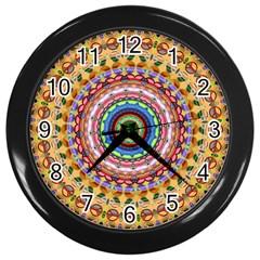 Peaceful Mandala Wall Clocks (black) by designworld65
