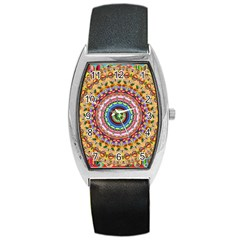 Peaceful Mandala Barrel Style Metal Watch by designworld65