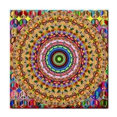 Peaceful Mandala Face Towel by designworld65