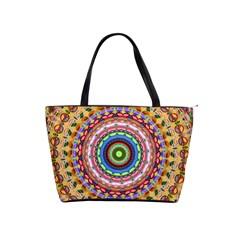 Peaceful Mandala Shoulder Handbags by designworld65