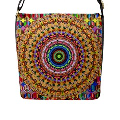 Peaceful Mandala Flap Messenger Bag (l)  by designworld65