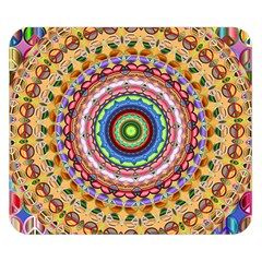 Peaceful Mandala Double Sided Flano Blanket (small)  by designworld65