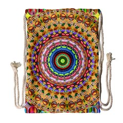 Peaceful Mandala Drawstring Bag (large) by designworld65