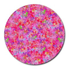 The Big Pink Party Round Mousepads by designworld65