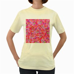 The Big Pink Party Women s Yellow T Shirt by designworld65