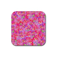 The Big Pink Party Rubber Coaster (square)  by designworld65